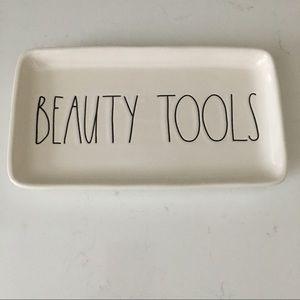 """NWT Rae Dunn """"Beauty Tools"""" Tray"""